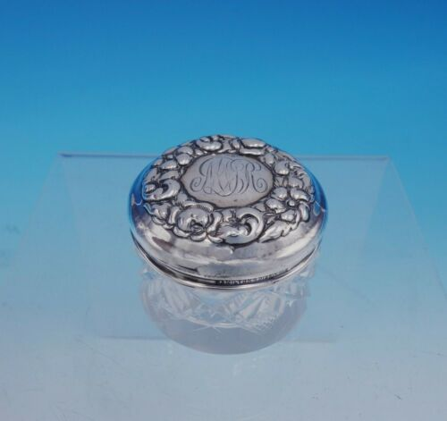Hamilton and Diesinger Sterling Silver Dresser Jar with Glass Floral (#3369)