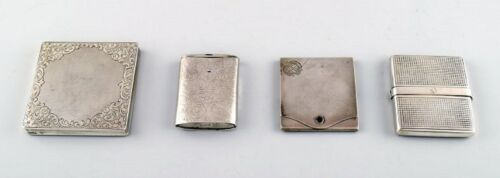 Four matchbox holders of silver (0.830) early 20 century.
