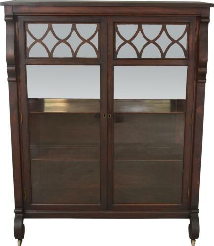 17735 Mahogany Empire China Closet