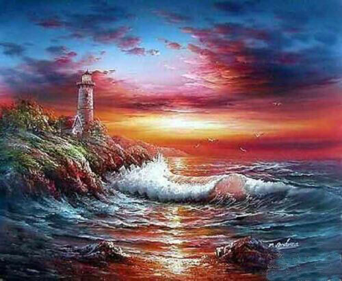 CHENPAT961 beautifl seascape sea wave Island oil painting art on canvas