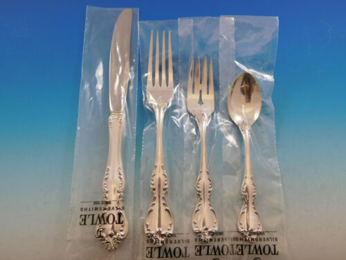 Debussy by Towle Sterling Silver Flatware Set for 12 Service 53 pcs Dinner New