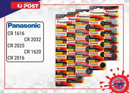 Panasonic CR2032 CR2025 CR1616 CR1620 CR1632 CR2450 CR2016 CR2430 Li Battery 3V
