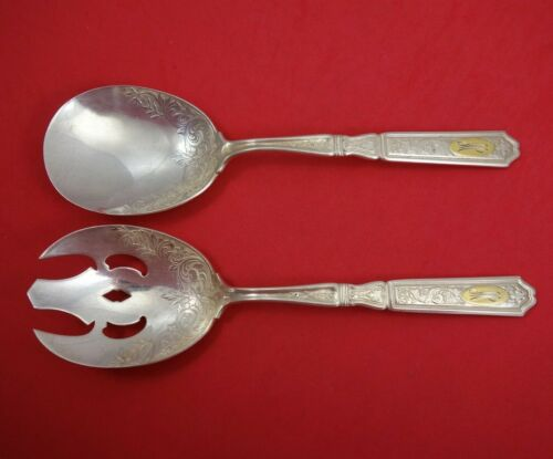 Saint Dunstan Chased by Gorham Sterling Silver Vegetable Serving Set 2pc 8 3/4""