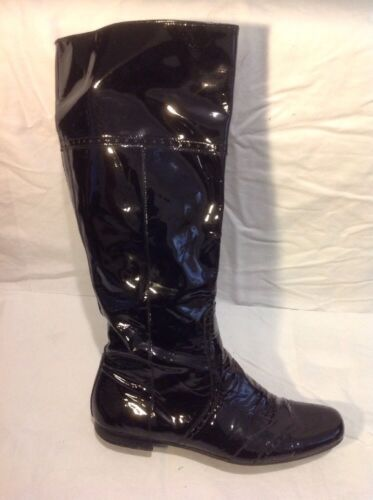Dei Colli Black Knee High Leather Boots Size 38