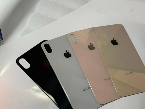 iPHONE XS MAX BACK REAR BATTERY COVER GLASS REPLACEMENT with Big Hole