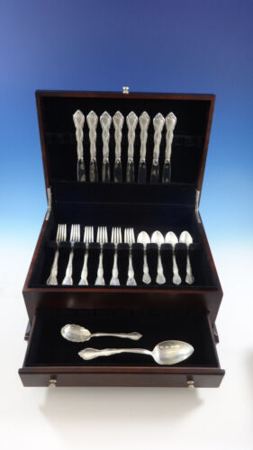 Rose Tiara by Gorham Sterling Silver Flatware Set for 8 Service 34 Pieces