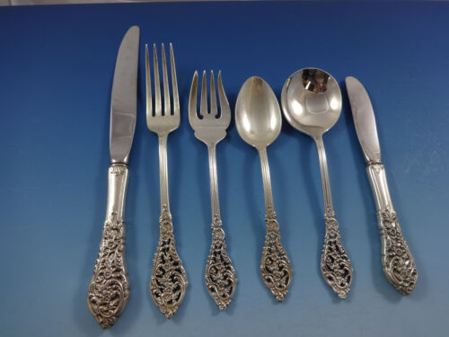 Florentine Lace by Reed & Barton Sterling Silver Flatware Service 8 Set 57 Pcs
