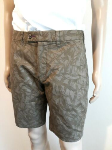 MEN'S TED BAKER SHOTIME TAUPE PRINTED COTTON SHORTS BNWT UK 30 TED 2