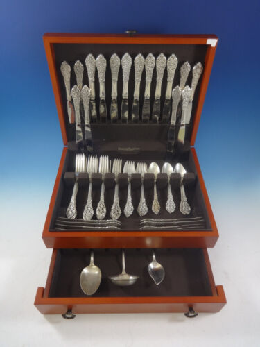 Florentine Lace by Reed & Barton Sterling Silver Flatware Service 8 Set 59 Pcs