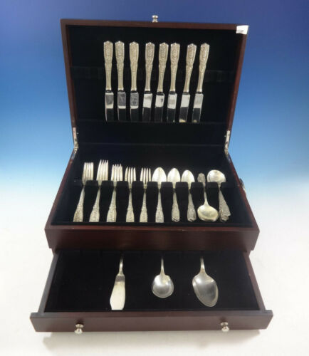 Milburn Rose by Westmorland Sterling Silver Flatware Set For 8 Service 43 Pieces