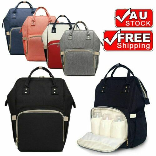 Waterproof Large Mummy Nappy Diaper Bag Baby Travel Changing Backpack AU Stock