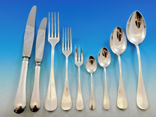 Queen Anne by Cesa 1882 Italy 800 Silver Flatware Set Service 56 pcs Dinner