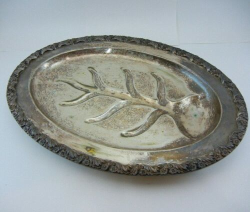 """Vintage National Silver King Edward Tree silver plate """"Moss Rose""""  #7015"""