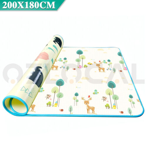 200x180cm Baby Kids Floor Play Mat Rug Picnic Cushion Crawling Mat Waterproof AU <br/> NEW ARRIVAL✔Special Offer for first 100 Buyers✔AU STOCK