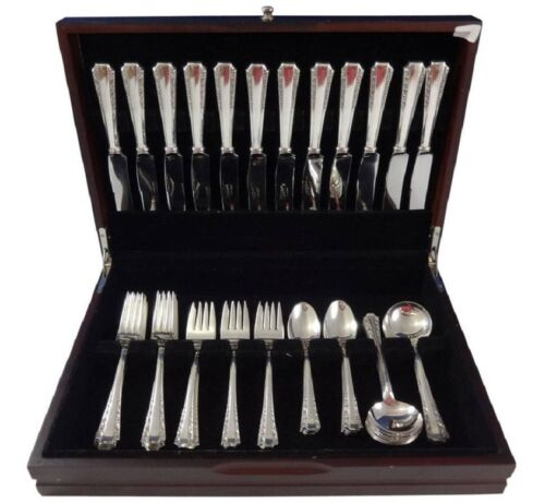 American Colonial by Amston Sterling Silver Flatware Set 12 Service 60 Pieces