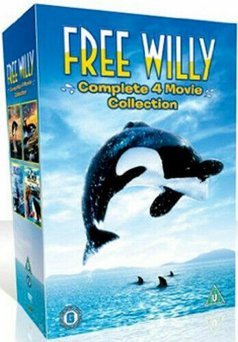 """FREE WILLY COMPLETE MOVIE COLLECTION 1-4 DELUXE DVD BOX SET 4 DISCS """"NEW&SEALED"""""""