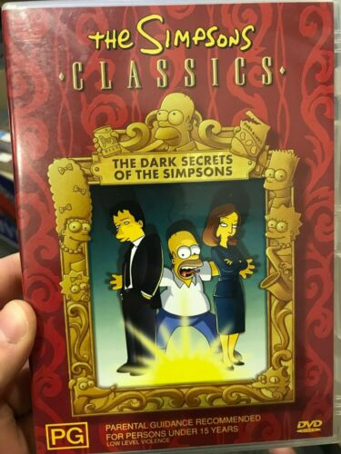 The Simpsons Classics - Dark Secrets Of The Simpsons region 4 DVD (animated)