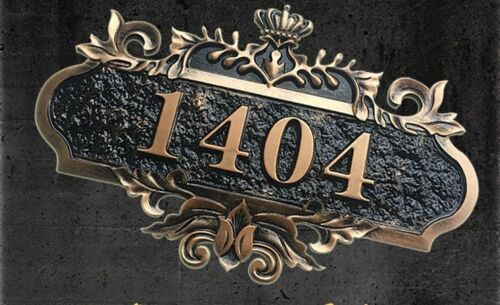 """Custom HOUSE ADDRESS SIGN HOUSE NUMBER Mail Box number acrylic PLATE 5.5""""X7.87"""""""