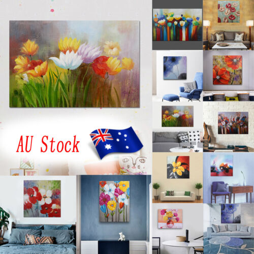 House Decor Modern Oil Painting On Canvas Hand Painted Wall Art Framed Flowers