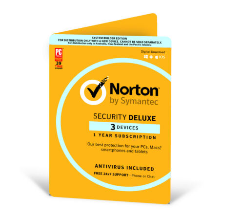 Symantec Norton internet security deluxe 3 Devices Windows Mac OS Android