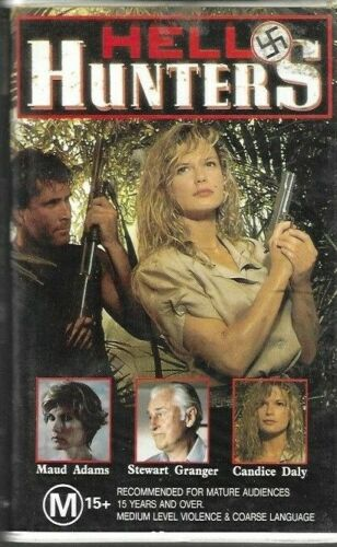 HELL HUNTERS  (Clamshell Vhs Video)  ex rental - rare - 1987  (Candice Daly)