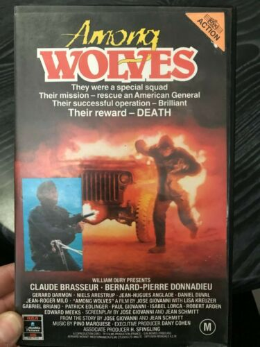 Among Wolves ex-rental VHS TAPE (80s / 1985 action movie)