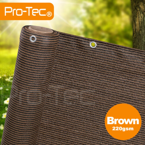 220gsm privacy netting garden screening windbreak fencing 95% shade net brown