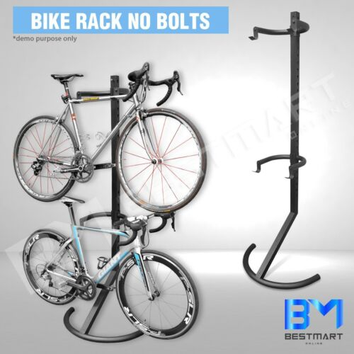 Gravity Adjustable 2 Bikes Storage Rack Carries Bicycle Garage Stand Cycling New
