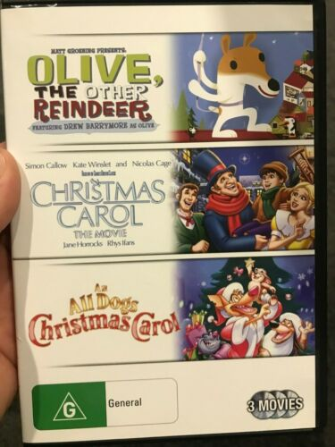 Olive The Other Reindeer / Christmas Carol / An All Dogs region 4 DVD (3 discs)