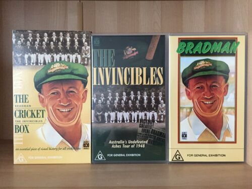 THE CRICKET BOX ~ BRADMAN + THE INVINCIBLES ~ PAL VHS VIDEO