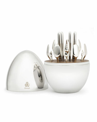 Mood Party by Christofle Silver Plate Flatware Set 24 Pc Appetizer Dessert - New