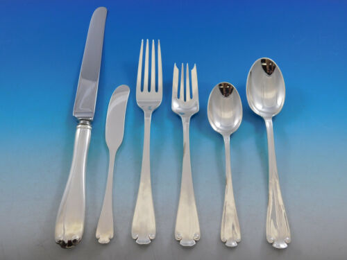 Flemish by Tiffany and Co Sterling Silver Flatware Set Service 36 pieces Dinner