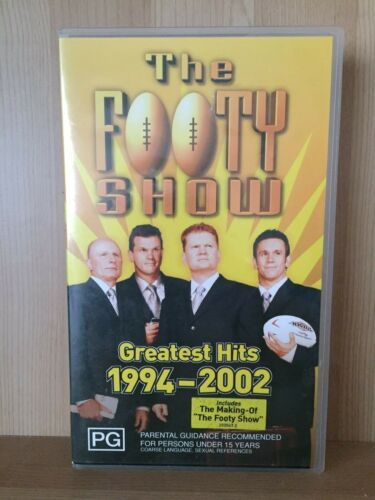 THE FOOTY SHOW GREATEST HITS 1994-2002 NRL FOOTBALL~BRAND NEW SEALED VHS VIDEO