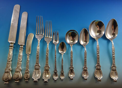 Du Barry Dubarry by Durgin Sterling Silver Flatware Set Service 133 pieces