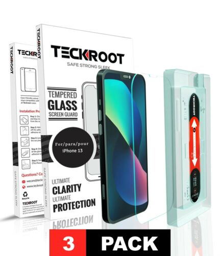 iPhone 11, 11 Pro, 11 Pro Max TeckRoot Tempered Glass Screen Protector