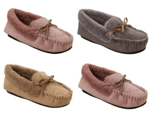 LADIES DR KELLER ORTHOPAEDIC WIDE FIT FLEECE MOCCASIN SLIPPERS LOAFERS SIZE 3-8