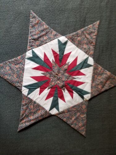 Patchwork House Quilt Quilted Star Tapestry / Centerpiece / Finished Piece