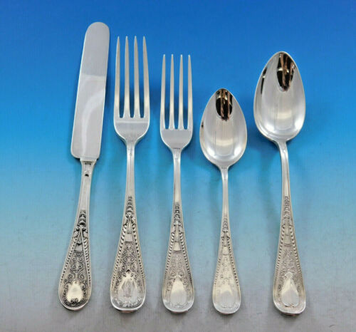 Hindostanee by Gorham Sterling Silver Flatware Set Service 66 pieces Persian