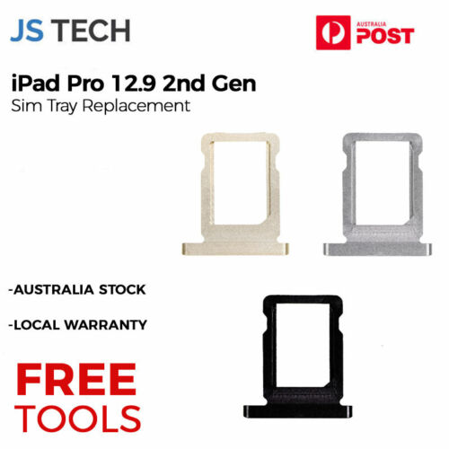 New Sim Tray Replacement for iPad Pro 12.9 2nd Gen With Free Tools