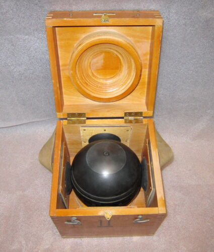 SOVIET RUSSIAN MARINE GYROCOMPASS  GYRO SPHERE  GYRO-COMPASS Made in USSR 1980