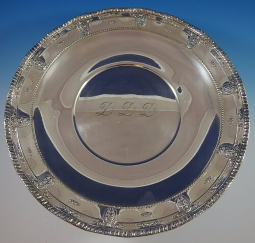 """Rose Point by Wallace Sterling Silver Serving Platter 18"""" Large #4381 (#1101)"""