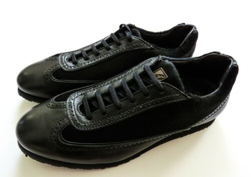 $1150 BRIONI Black Calf Pony Hair Leather Sneakers Shoes 8.5 US 41.5 Euro 7.5 UK