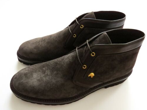 STEFANO RICCI Brown Suede Leather Chukka Boots Shoes Size 9 US 42 Euro 8 UK