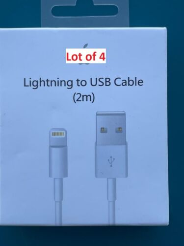 Pack of 6 OR 12 Genuine OEM Iphone CHARGER Cable 5/6/7/8/X Plus S C/3ft/1m