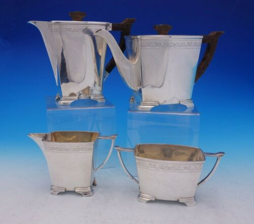 Stower and Wragg English Sterling Silver Tea Set 4pc c. 1940 #931518 (#3739)