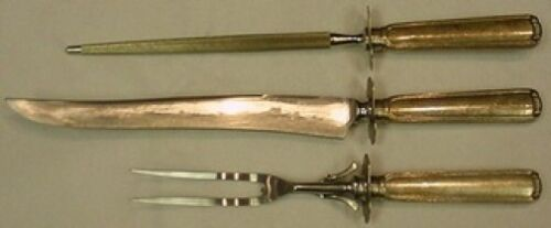 Embassy Scroll by Lunt Sterling Silver Roast Carving Set 3pc HH WS Heirloom
