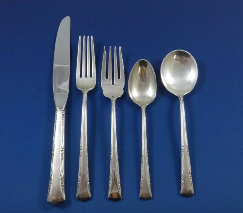 Greenbrier by Gorham Sterling Silver Flatware Set For 12 Service 68 Pieces