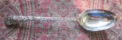 """Cluny Gorham Stuffing Spoon 12 1/2"""" with Button & Rippled Bowl! RARE!!"""
