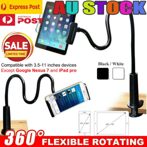 360° Rotating Tablet Stand Holder Lazy Bed Desk Mount For iPad iPhone Samsung