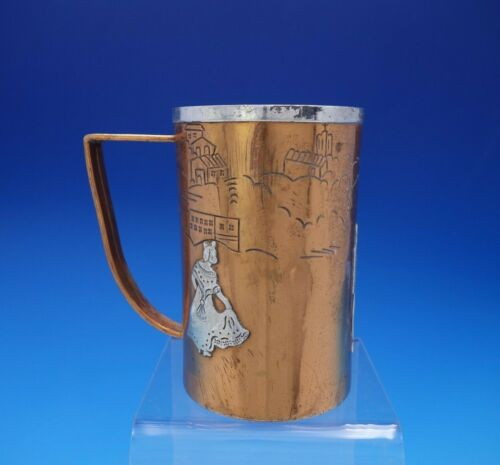 Victoria Taxco Mexican Sterling Silver and Copper Mug w/Dancers #267 (#3794)